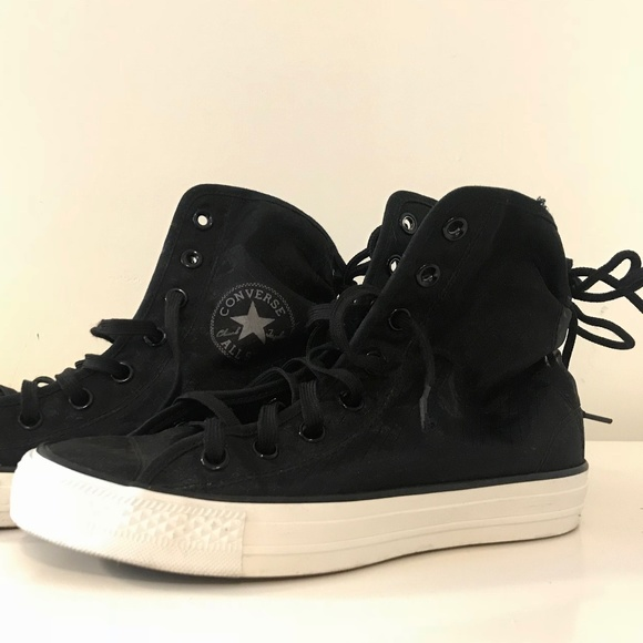 9e968e4fe948 Converse Shoes - Converse High Top Black Mesh Tie Back Sneakers